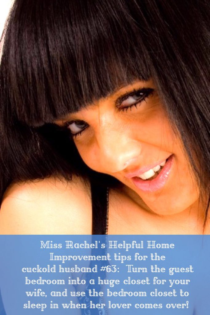 Humiliated cuckold, let Miss Rachel be your confidante! 1-800-356-6169